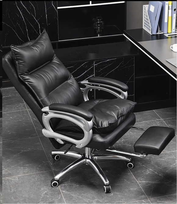 Leather Seat Office Chair Luxury leather With Massage Function
