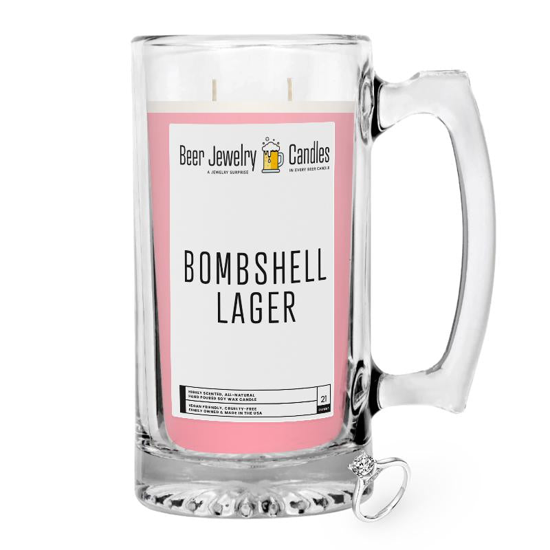 Bombshell Lager Beer Jewelry Candle