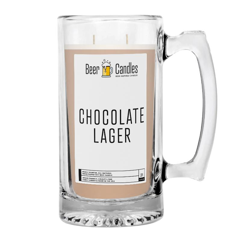 Chocolate Lager Beer Candle