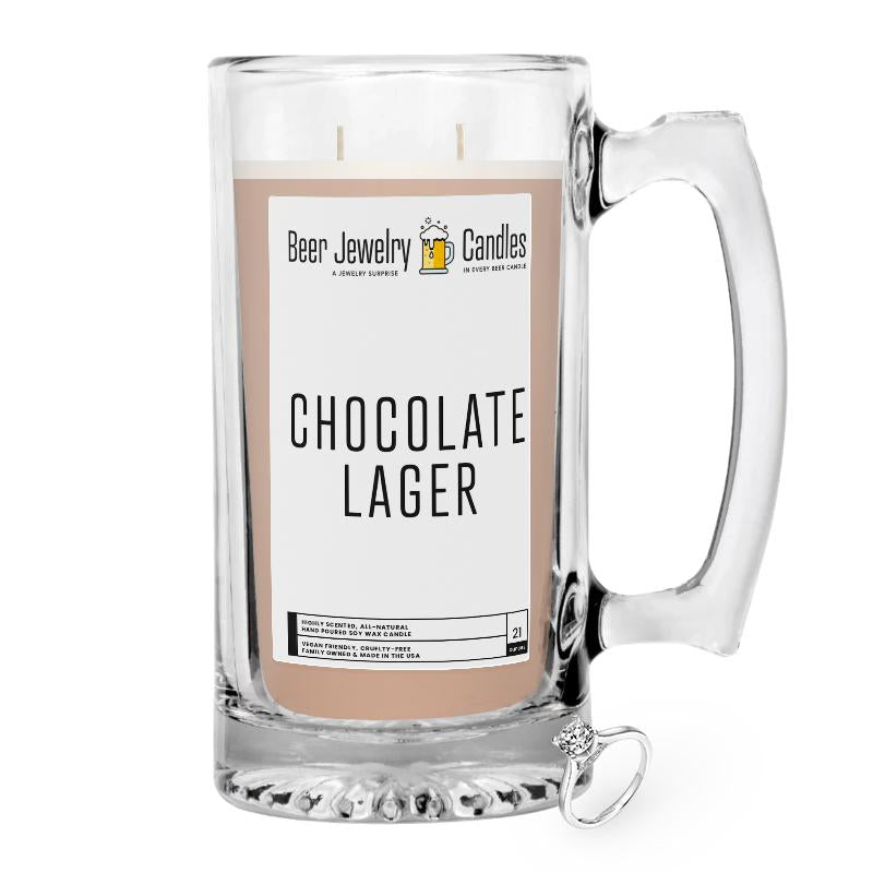 Chocolate Lager Beer Jewelry Candle