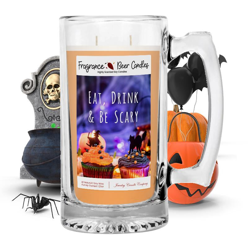 Eat, Drink & Be scary Fragrance Beer Candle