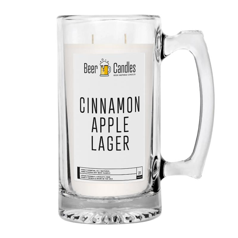 Cinnemon Apple Lager Beer Candle