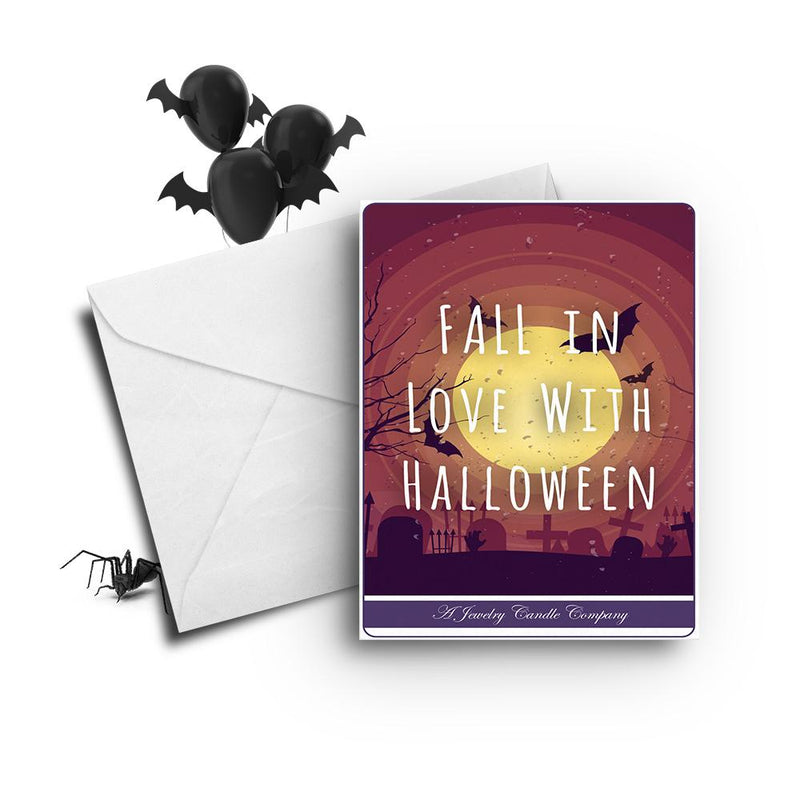 Fall in love with halloween Greetings Card