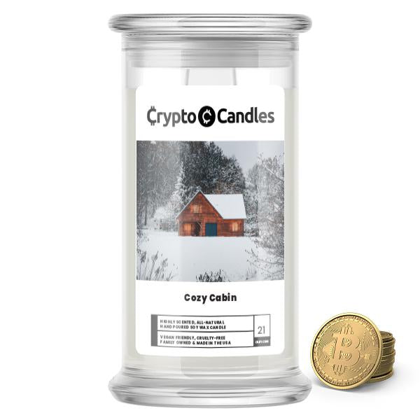 Cozy Cabin Crypto Candle