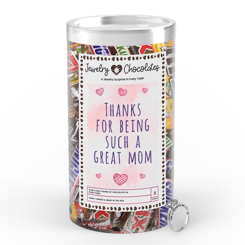 Thanks For being Such a Great Mom Jewelry Chocolates