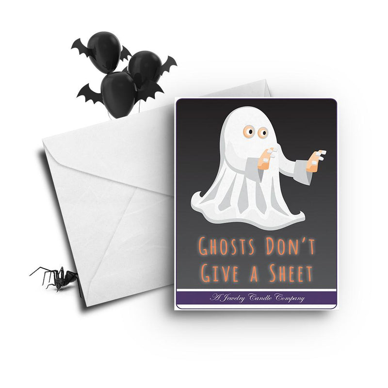 Ghosts don't give a sheet Greetings Card