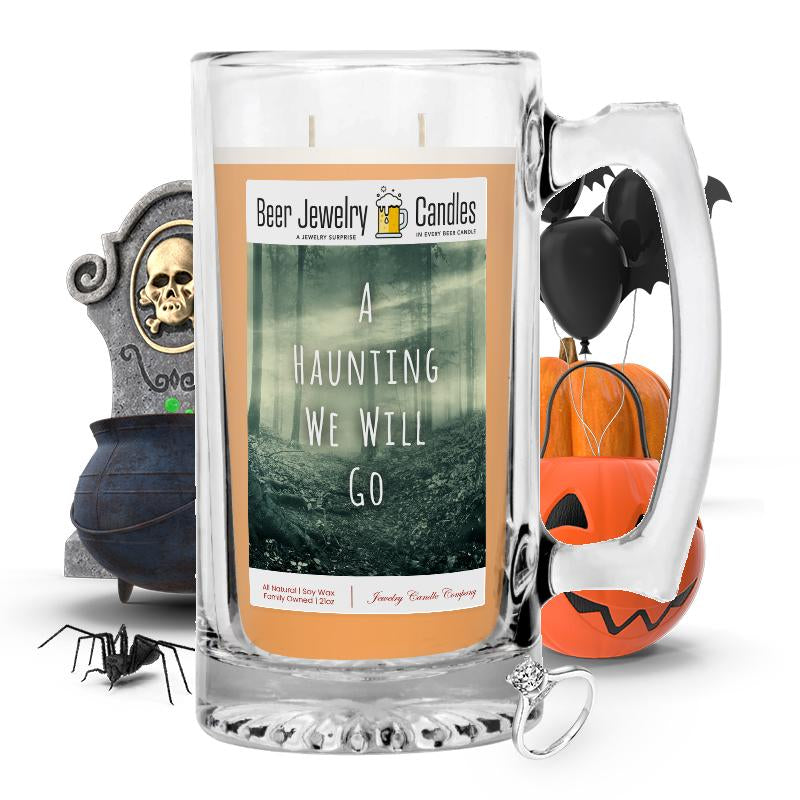 A hunting we will go Beer Jewelry Candle