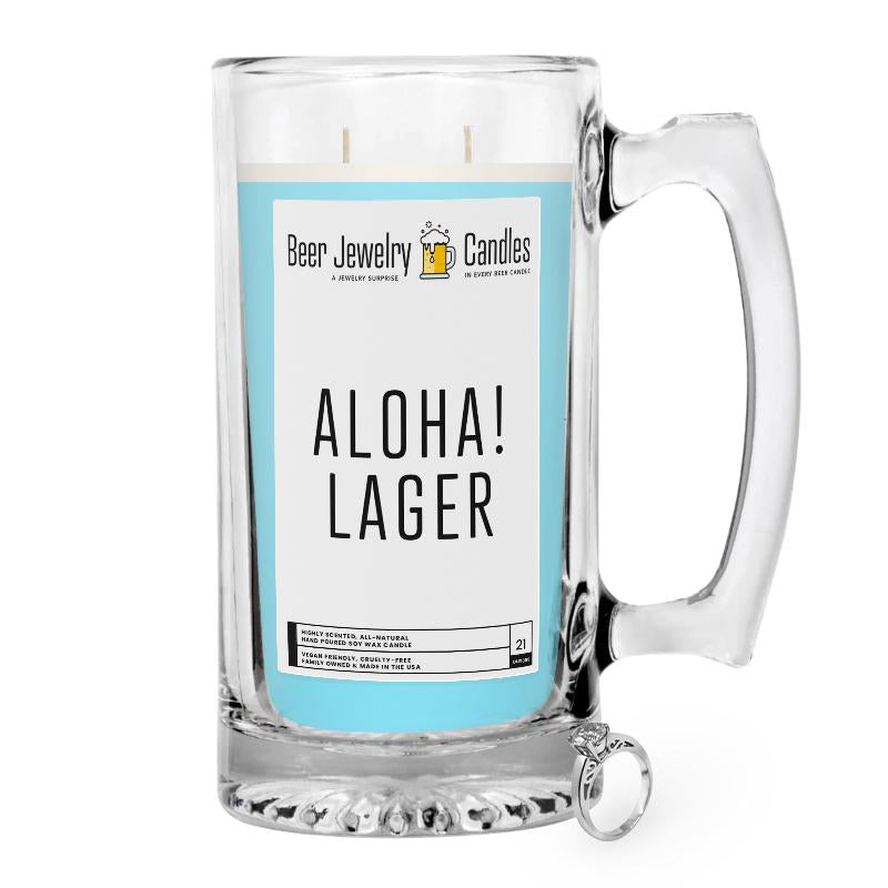 Aloha! Lager Beer Jewelry Candle