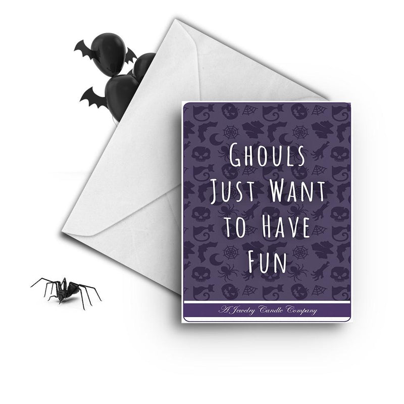 Ghouls just want to have fun Greetings Card