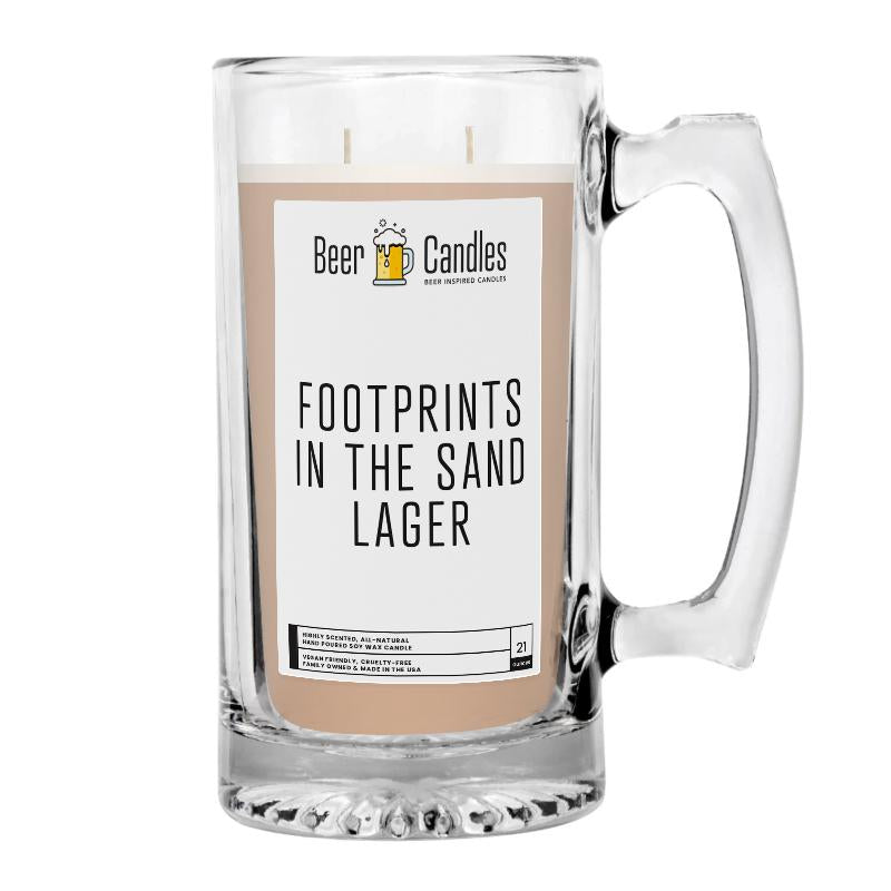 Footprints in the Sand Lager Beer Candle
