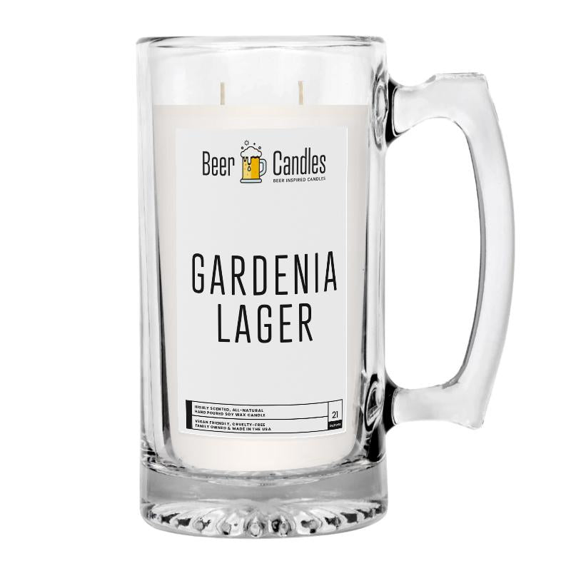 Gardenia Lager Beer Candle