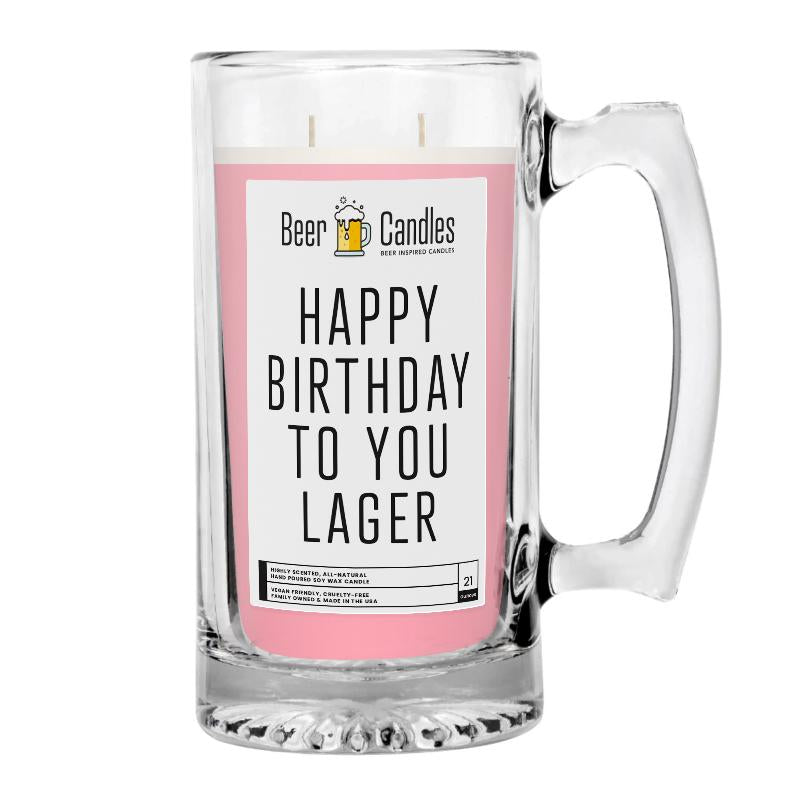 Happt Birthday to You Lager Beer Candle