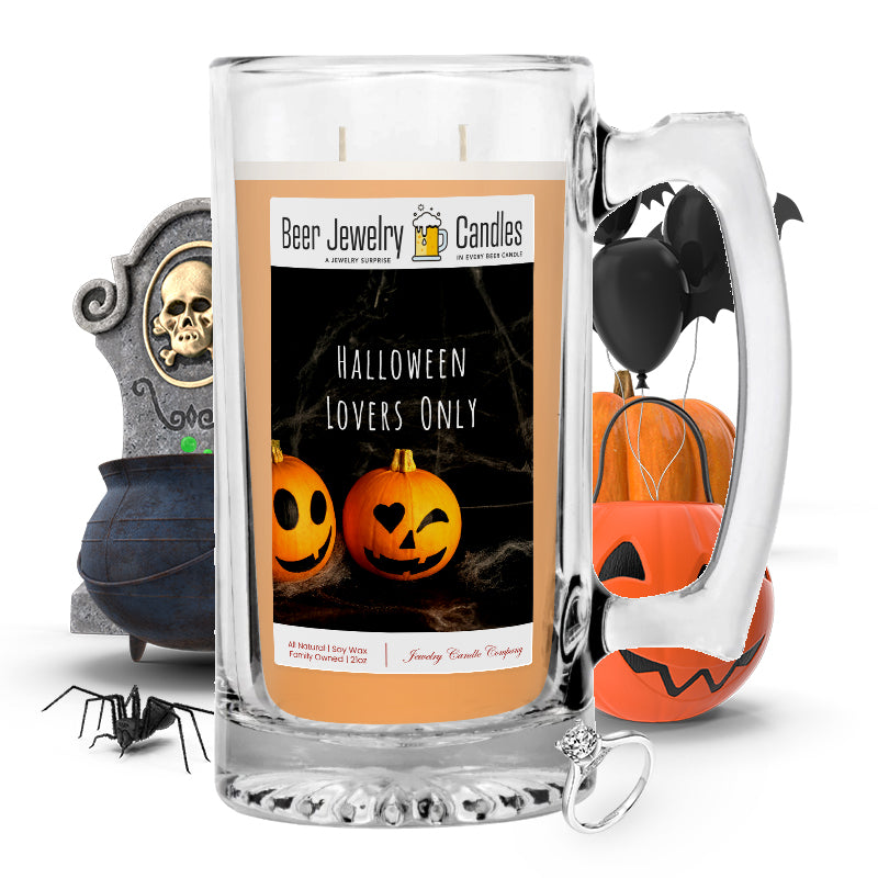 Halloween lovers only Beer Jewelry Candle