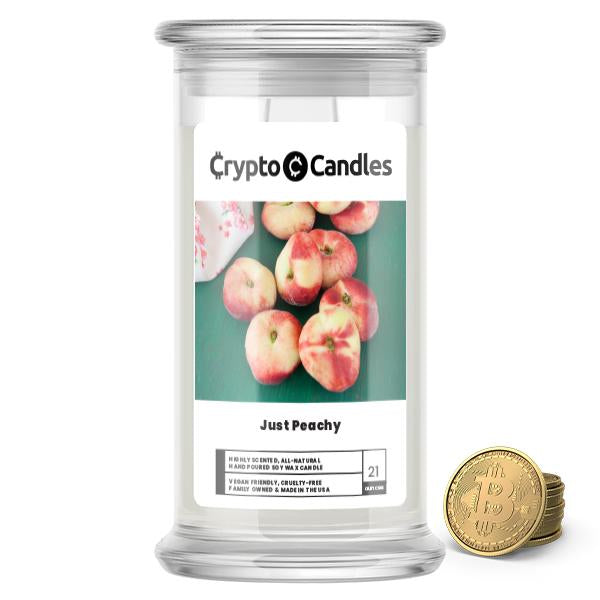 Just Peachy Crypto Candle
