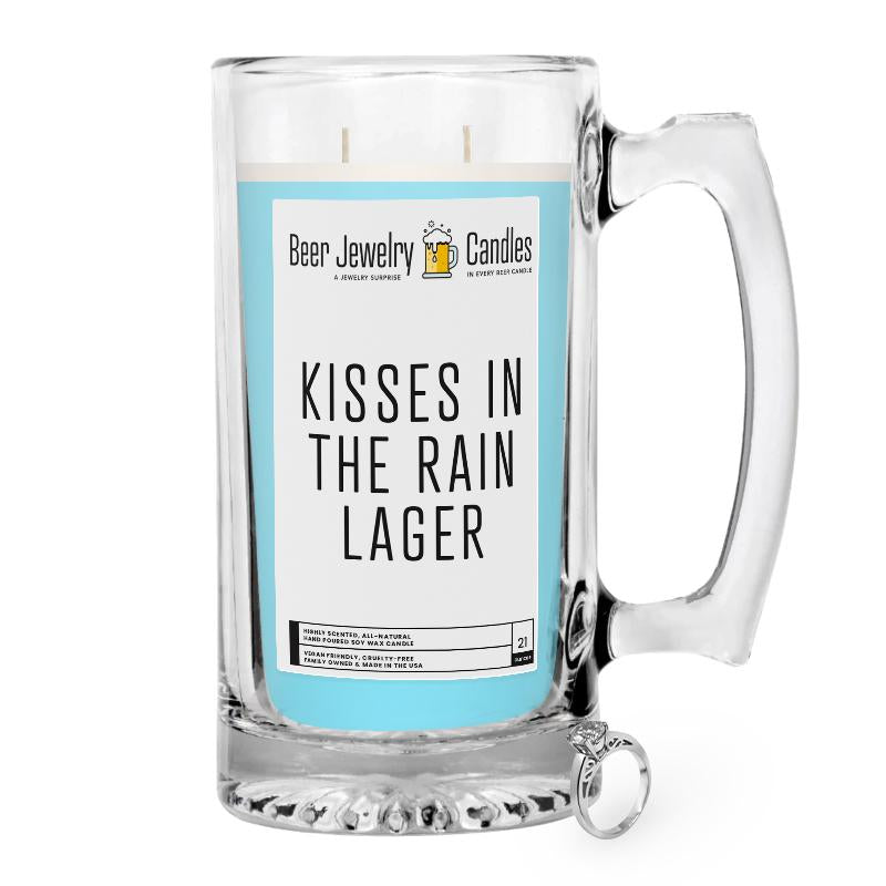 Kisses in the Rain  Lager Beer Jewelry Candle