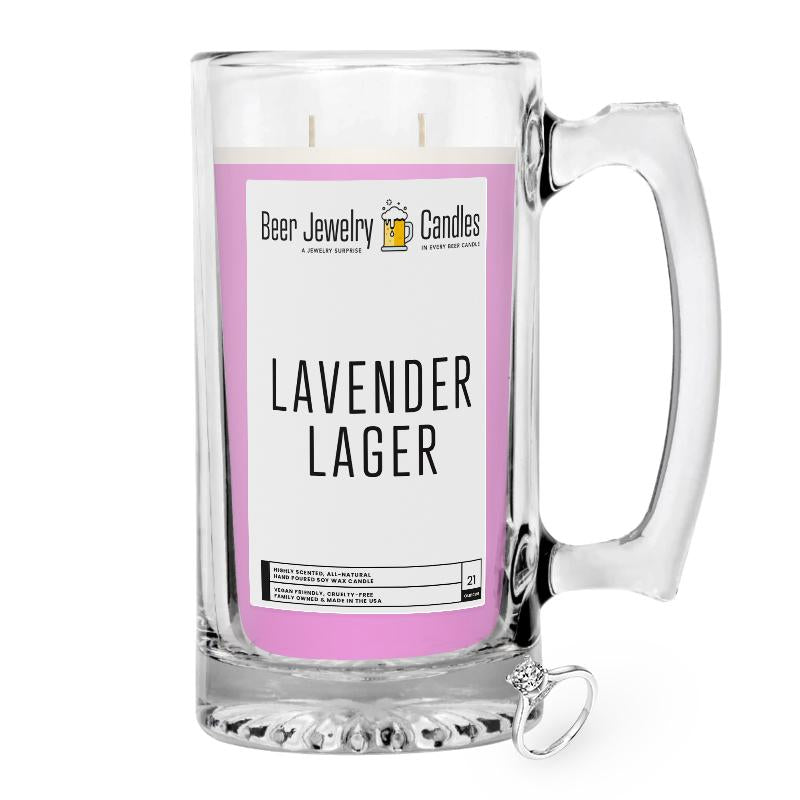 Lavender Lager Beer Jewelry Candle