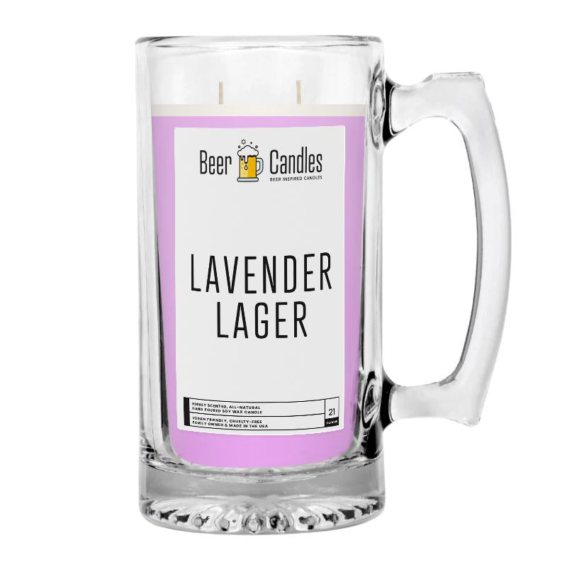 Lavender Lager Beer Candle