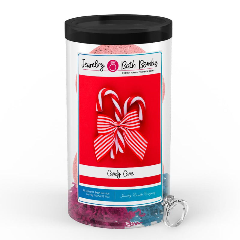 Candy Cane Jewelry Bath Bombs