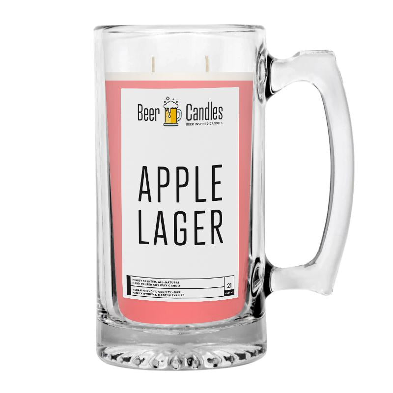 Apple Lager Beer Candle