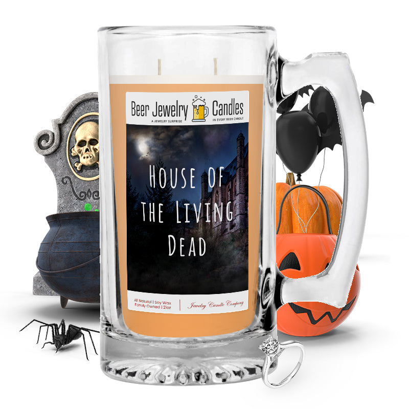 House of the living dead Beer Jewelry Candle