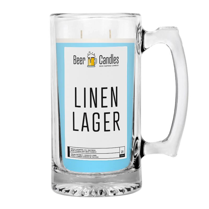 Linen Lager Beer Candle