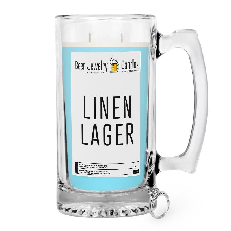 Linen Lager Beer Jewelry Candle