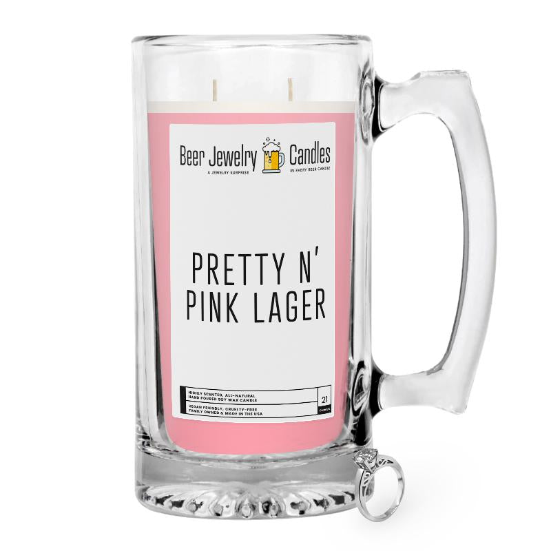 Pretty N' Pink Beer Jewelry Candle