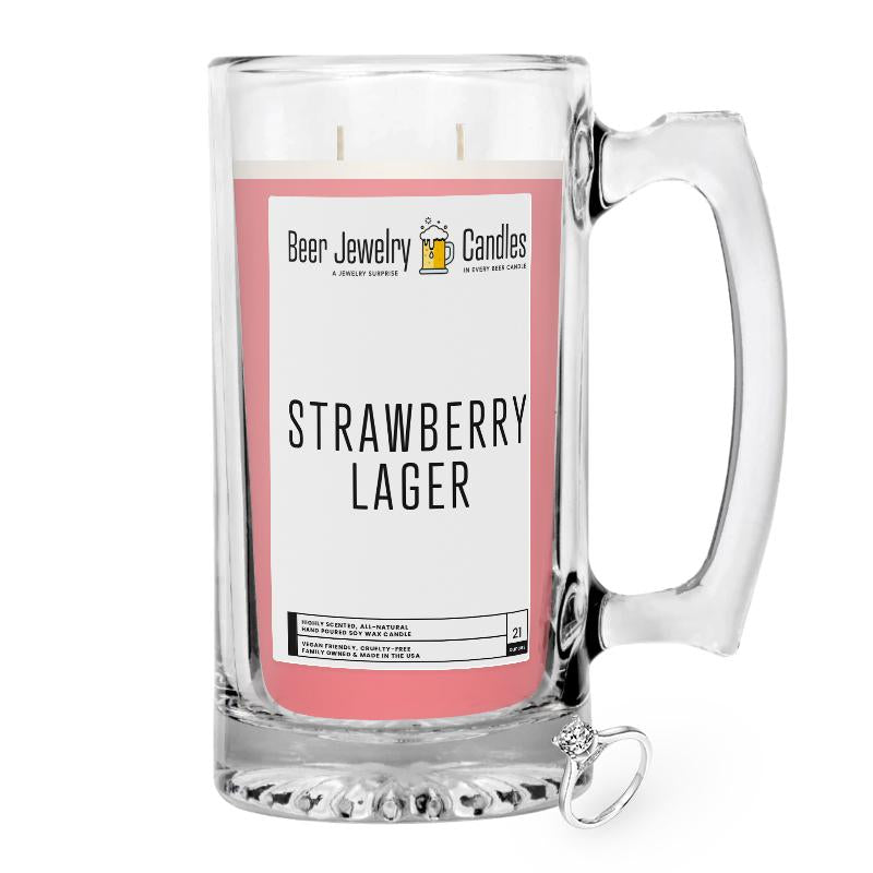 Strawberry Lager Beer Jewelry Candle