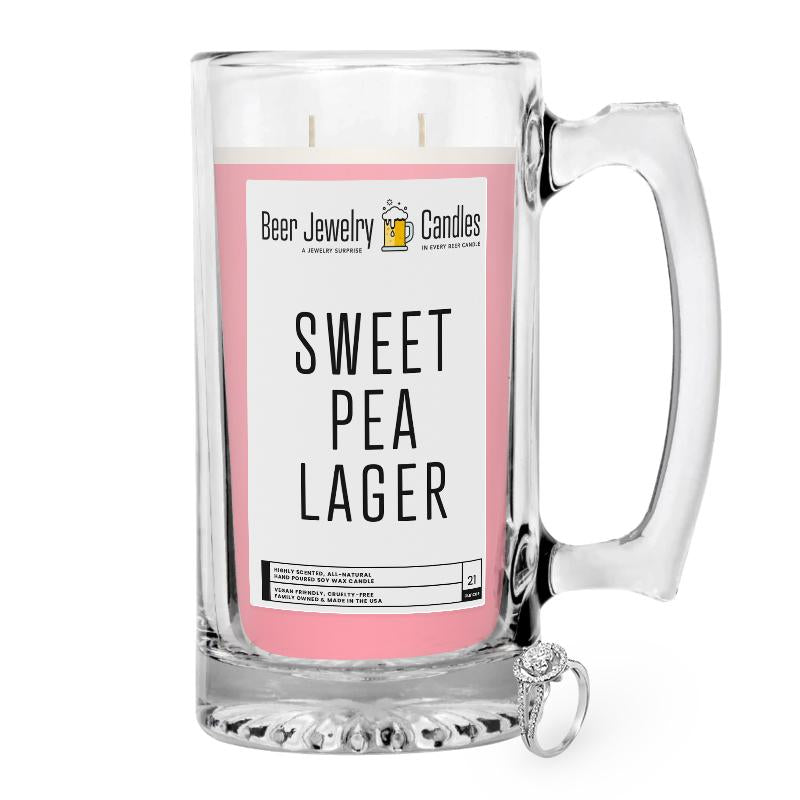 Sweet Pea Lager Beer Jewelry Candle
