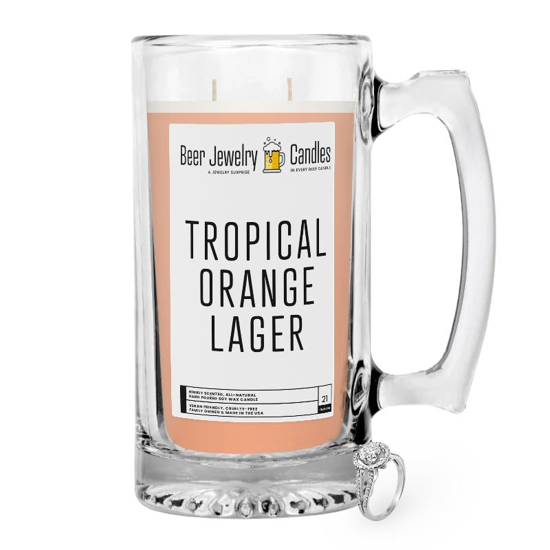 Tropical Orange Lager Beer Jewelry Candle