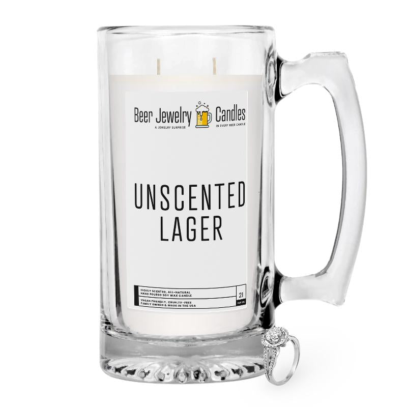 Unscented Lager Beer Jewelry Candle