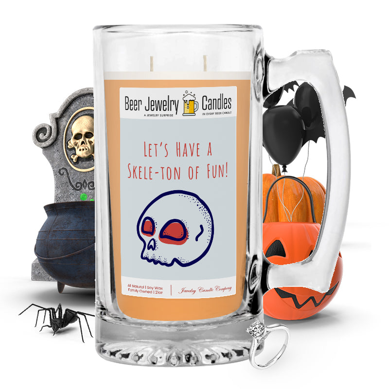 Let's have a skele-ton of fun! Beer Jewelry Candle