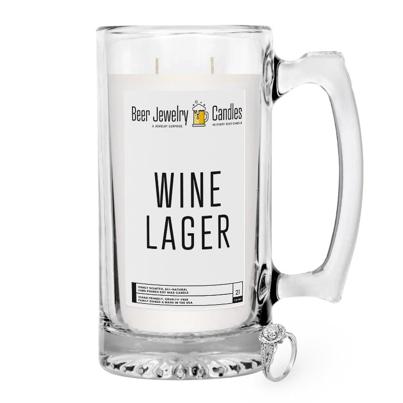 Wine Lager Beer Jewelry Candle