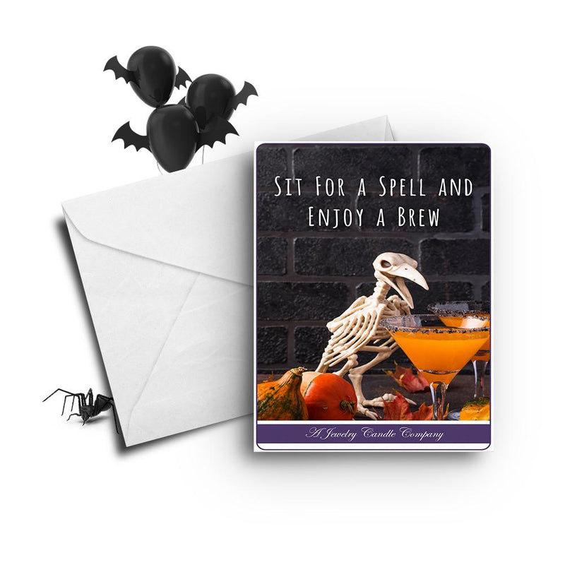 Sit for spell and enjoy a brew Greetings Card