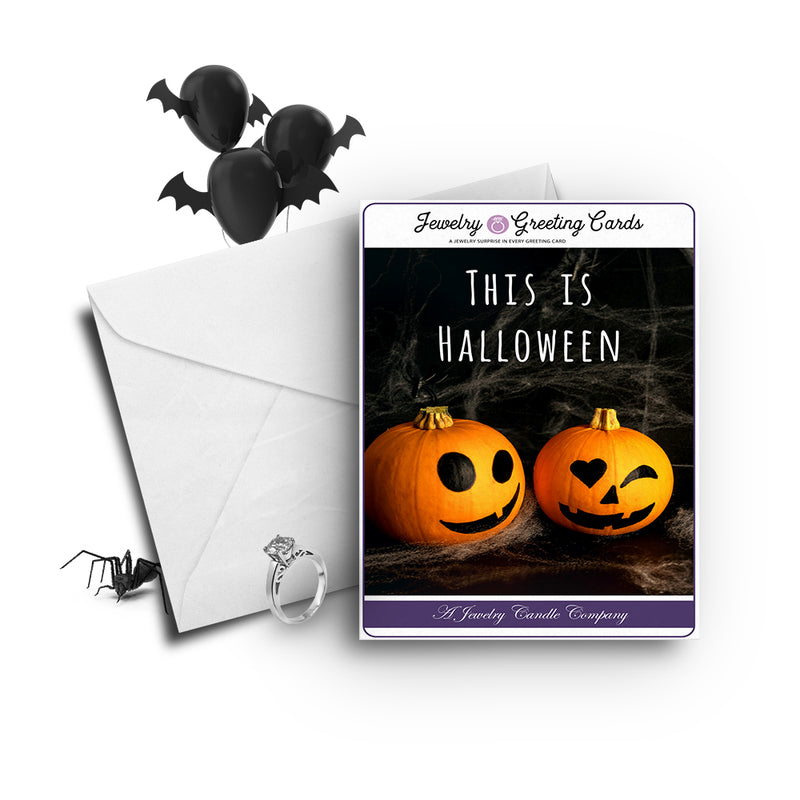 This Is halloween Jewelry Greetings Card