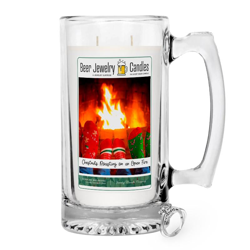 Christmas Roasting On an Open Fire Beer Jewelry Candle