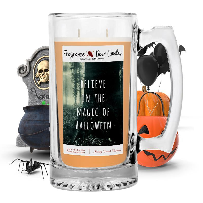 Believe in the magic of halloween Fragrance Beer Candle