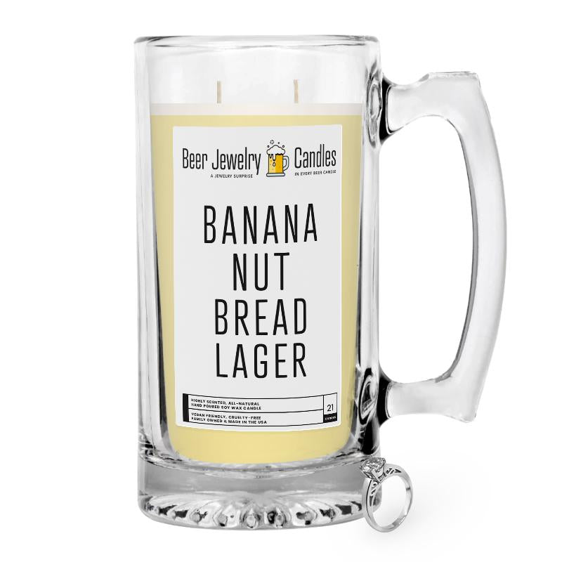 Banana Nut Bread Lager Beer Jewelry Candle