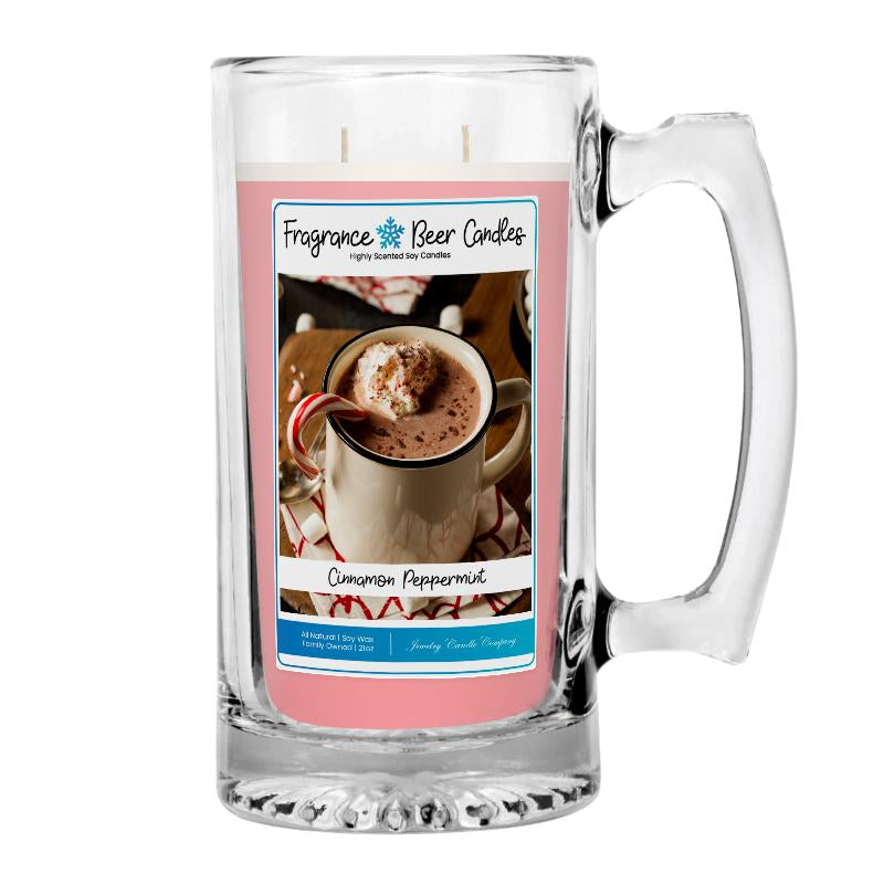 Cinnamon Peppermint Fragrance Beer Candle