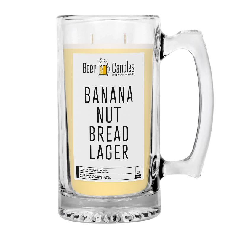 Banana Nut Bread Lager Beer Candle