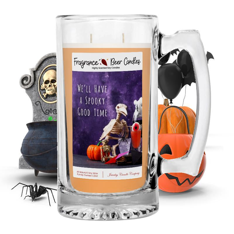 We'll have a spooky good time Fragrance Beer Candle