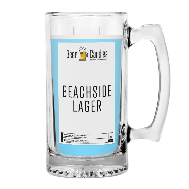 Beachside Lager Beer Candle