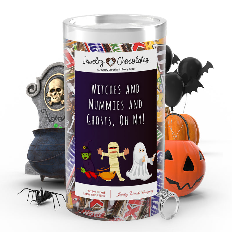 Witches and mummies and ghosts, oh my! Jewelry Chocolates
