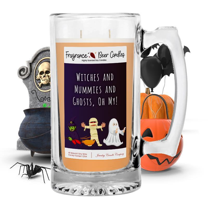 Witches and mummies and ghosts, oh my! Fragrance Beer Candle