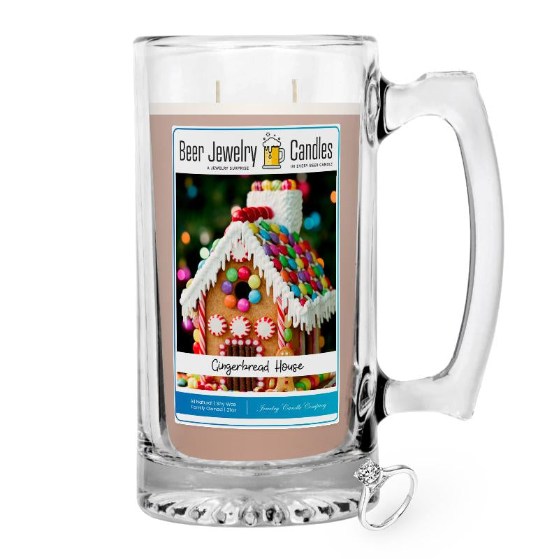 Gingerbread House Jewelry Beer Candle