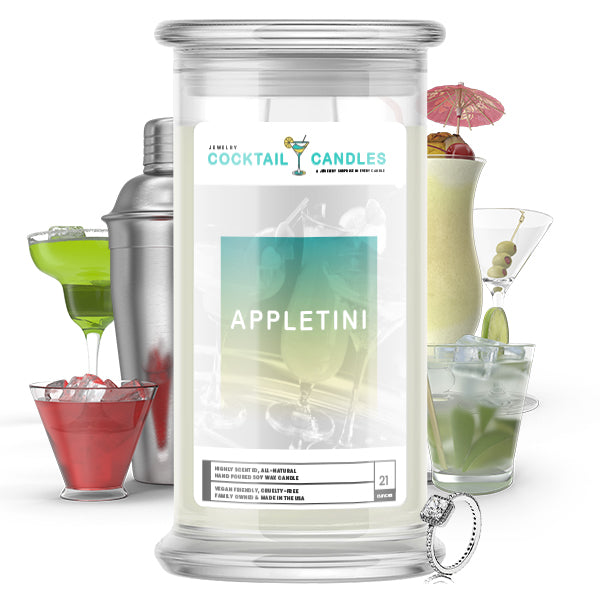 Appletini Cocktail Jewelry Candle