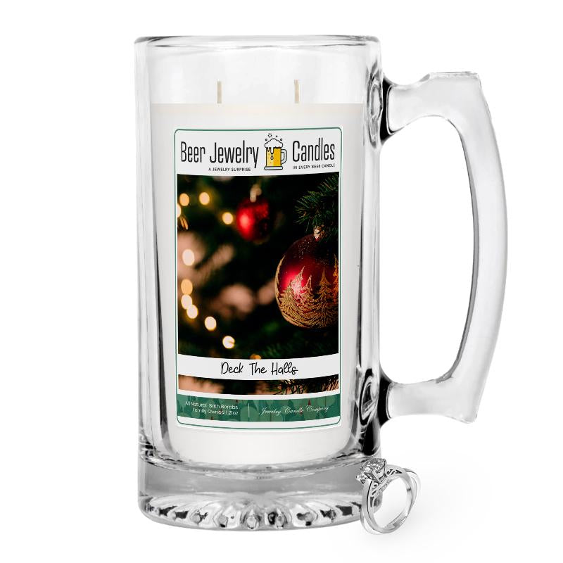 Deck the Halls Beer Jewelry Candle