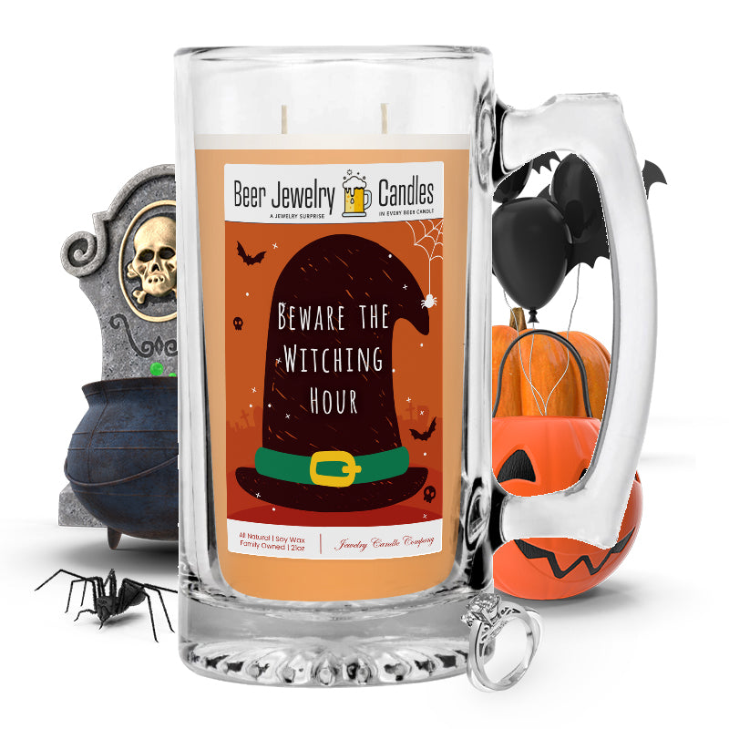 Beware the witching hour Beer Jewelry Candle