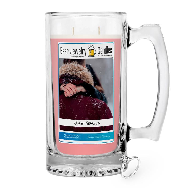 Winter Romance Jewelry Beer Candle