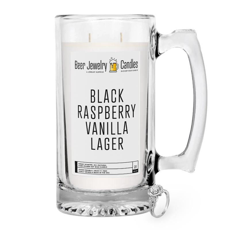 Black Raspberry Vanilla Lager Beer Jewelry Candle